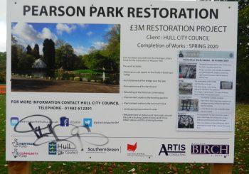 9th November, 2019  Restoration Project Pearson Park, Hull.